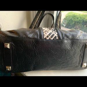 L.A.M.B. Bags - Lamb black / brown ladies leather purse 8.5 by 14
